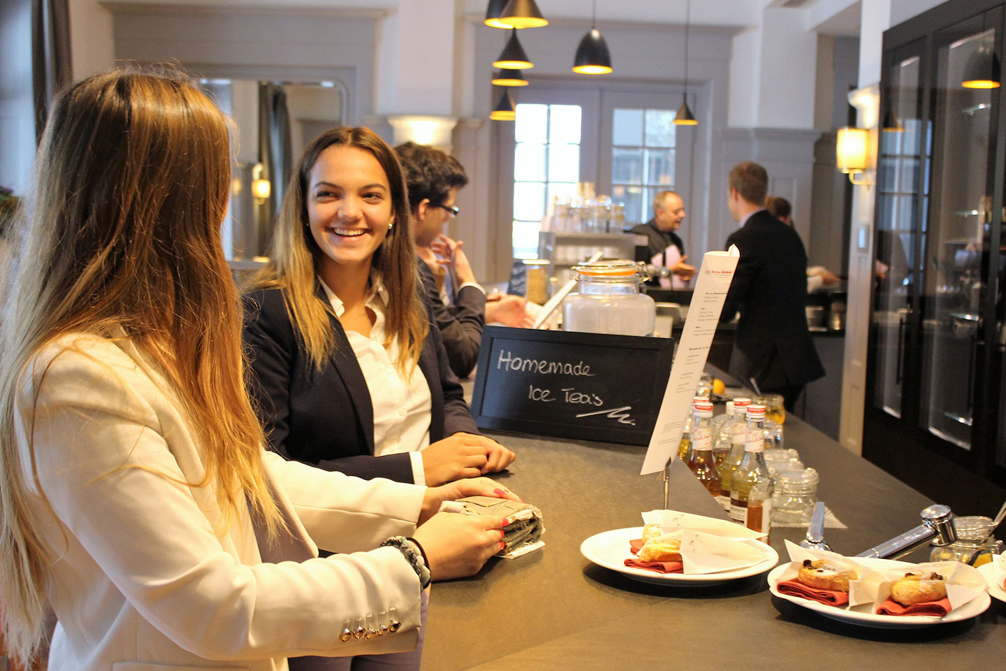 Skilled hospitality students at EHL Swiss School of Tourism and Hospitality
