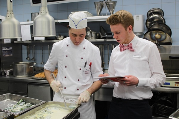 Students host own events in modern learning kitchen facilities