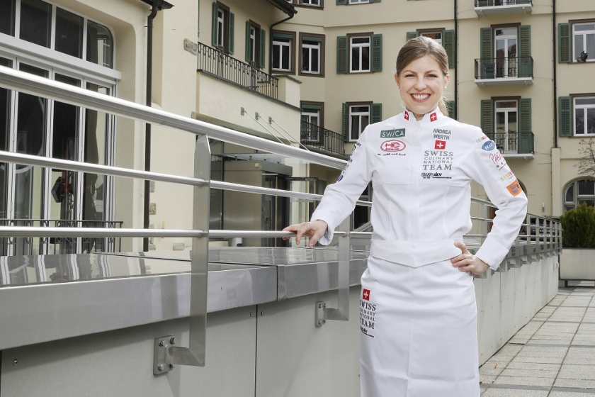 Andrea Werth is a member of the national cooking team and studies at the EHL Campus Passugg