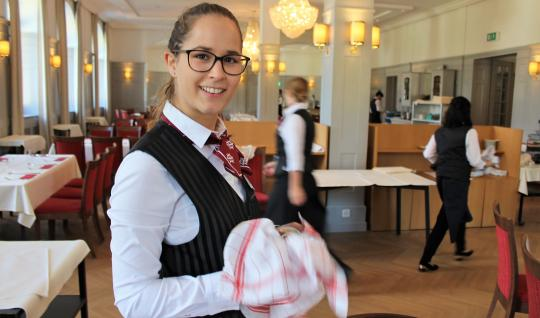 Manuela Indergand chose to study hotel management in Switzerland