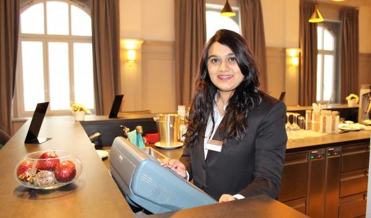 Drishti Vora studies hospitality management at EHL Campus Passugg